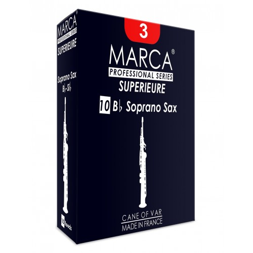 Marca Superieure Soprano Saxophone Reed, Strength 4, Box of 10