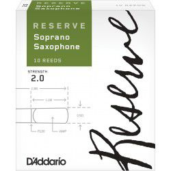 D'Addario Reserve Soprano Saxophone Reed Strength 2, Box of 10