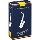 Vandoren Traditional Eb Alto Saxophone Reed, Strength 1, Box of 10