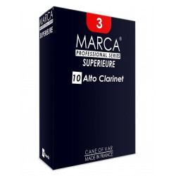 Marca Superieure Alto Clarinet Reed Strength 2, Box of 10