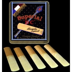 Alexander Superial DC Soprano Saxophone Reed Strength 1.5, Box of 10