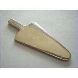 Rigotti Arrow Shaped Bassoon Reed Making Plaque, Convex Brass
