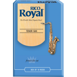 Rico Royal Tenor Saxophone Reed, Strength 5, Box of 10