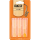 Rico Orange Alto Saxophone Reed, Strength 2.5 (Unfiled Cut), Box of 3