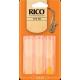 Rico Orange Alto Saxophone Reed, Strength 3 (Unfiled Cut), Box of 3