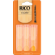 Rico Orange Bb Clarinet Reed, Strength 2.5 (Unfiled Cut), Box of 3