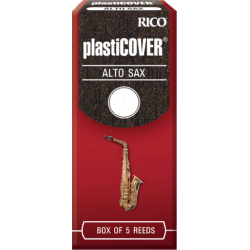 Rico Plasticover Eb Alto Saxophone Reed, Strength 4, Box of 5