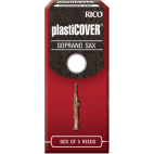 Rico Plasticover Soprano Saxophone Reed, Strength 3.5, Box of 5