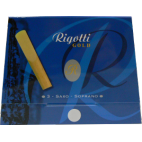 Rigotti Gold Soprano Saxophone Reed, Strength 2.5, Box of 3