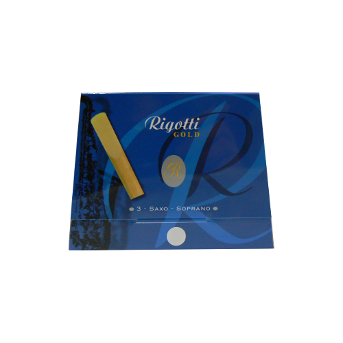Rigotti Gold Soprano Saxophone Reed, Strength 4, Box of 3