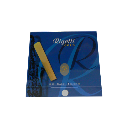 Rigotti Gold Tenor Saxophone Reed, Strength 2.5, Box of 3