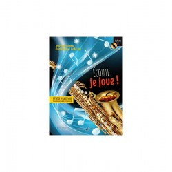 "Billaudot Saxophone Learning Book ""Écoute, je joue !"" - J.Y. Fourneau, Volume 2 (French)"