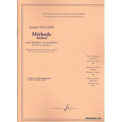 "Billaudot Oboe Learning Book ""Méthode Études Élémentaires"" - J. Sellner, Volume 1 (French)"