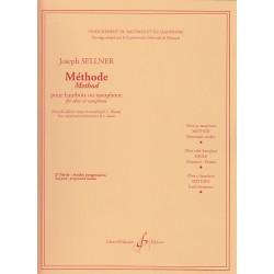"Billaudot Oboe Learning Book ""Méthode Études Élémentaires"" - J. Sellner, Volume 2 (French)"