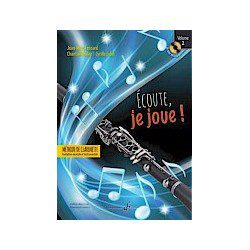 "Billaudot Clarinet Learning Book ""Écoute, je joue !"" - J.M. Fessard, Volume 2 (French)"