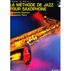 "Saxophone Learning Book ""La Méthode de Jazz pour Saxophone"" (Tenor, Soprano) - J. O'Neill (French)"