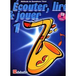 """Saxophone Learning Book """"Écouter, Lire et Jouer"""" (Tenor) - De Haske, Volume 1 + CD (French)"""