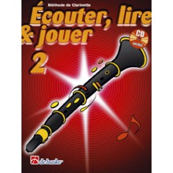 "Clarinet Learning Book ""Écouter, Lire et Jouer"" - De Haske, Volume 2 + CD (French)"