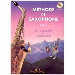 Beginner's Saxophone Learning Book - Delangle, Volume 2 + CD (French)