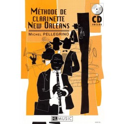 "Clarinet Learning Book ""New Orleans"" - Pellegrino + CD (French)"