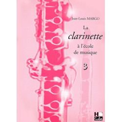 Methode clariette Lemoine J.L Margo La clarinette à l'ecole de musique Vol.3 + CD