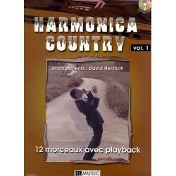 Partition Lemoine D. Herzhaft Harmonica Country Vol.1