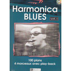 Partition harmonica Lemoine D. Herzhaft Harmonica blues Vol.1 +CD