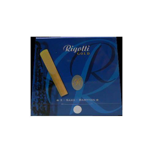 Rigotti Gold Baritone Saxophone Reed, Strength 3, Box of 3