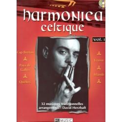 Partition harmonica Lemoine D. Herzhaft Harmonica celtique Vol.1 + CD