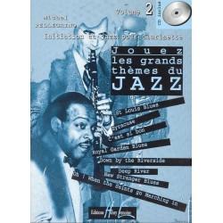 Partition Clarinette Lemoine M. Pellegrino: Jouez les grands thèmes du jazz Vol.2 + CD