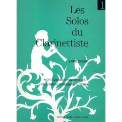 Partition clarinette Lemoine Y. Didier Les solos du clarinettiste Vol.1