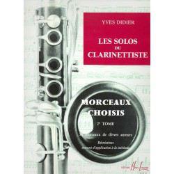Partition clarinette Lemoine Y. Didier Les solos du clarinettiste Vol.2