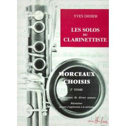 """Les Solos Du Clarinettiste"" - Y. Didier, Volume 2"