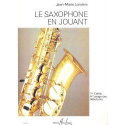 "Saxophone Study Book ""Saxophone en Jouant"" - J.M. Londeix, Volume 1 (French)"