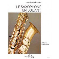 "Saxophone Study Book ""Saxophone en Jouant"" - J.M. Londeix, Volume 2 (French)"