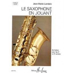 Methode - etude saxophone Lemoine J.M Londeix Saxophone en jouant Vol.3