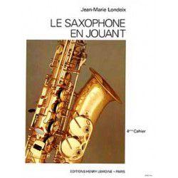 "Saxophone Study Book ""Saxophone en Jouant"" - J.M. Londeix, Volume 4 (French)"