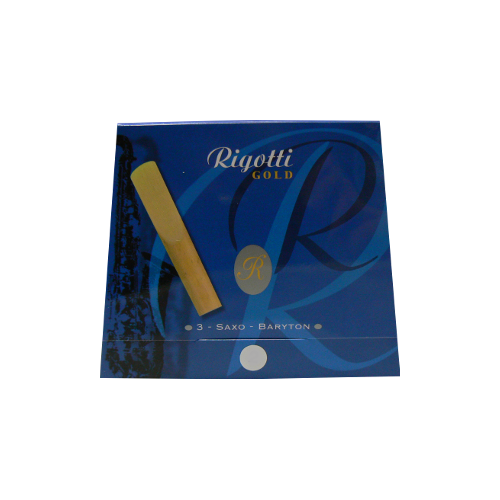 Rigotti Gold Baritone Saxophone Reed, Strength 4, Box of 3