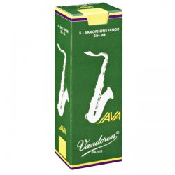Vandoren Java Green Tenor Saxophone Reed, Strength 1.5, Box of 5
