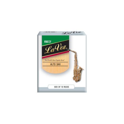 Rico La Voz Eb Alto Saxophone Reed (Medium/Hard), Box of 10