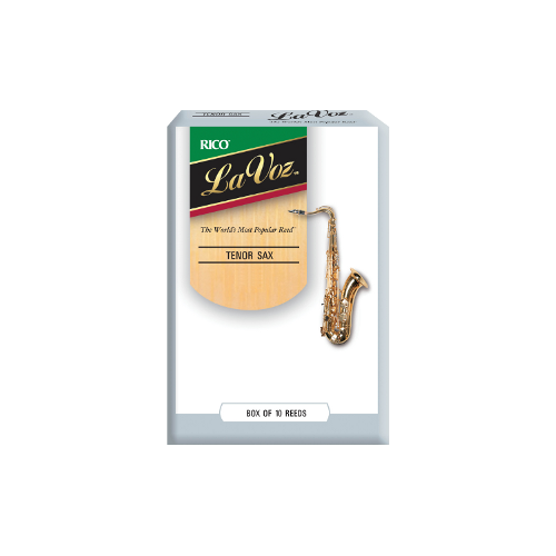 Rico La Voz Tenor Saxophone Reed (Medium), Box of 10