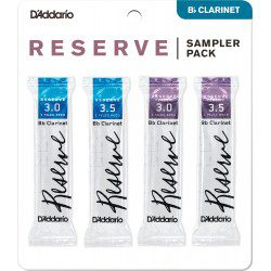 "Anche clarinette Sib / Bb ""Sampler Pack""Rico D'Addario Reserve / Reserve Classic force 2.5/3"