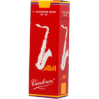 Vandoren Java Red Tenor Saxophone Reed, Strength 2.5, Box of 5