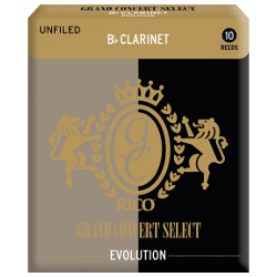 Rico Grand Concert Select Evolution Bb Clarinet Reed, Strength 3.5, Box of 10