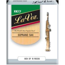 Rico La Voz Soprano Saxophone Reed (Medium/Hard), Box of 10