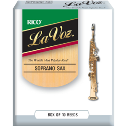 Rico La Voz Soprano Saxophone Reed (Medium), Box of 10