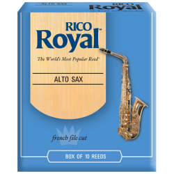 Rico Royal Eb Alto Saxophone Reed, Strength 5, Box of 10