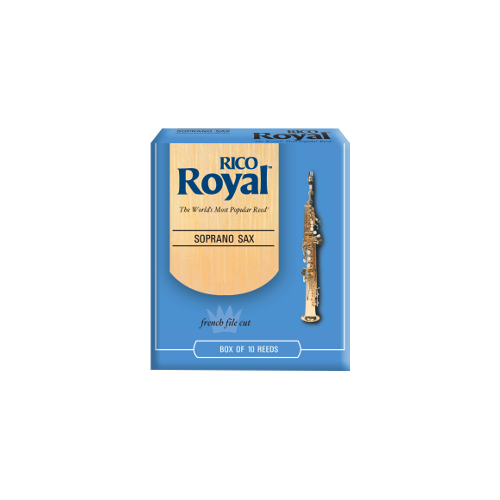 Rico Royal Soprano Saxophone Reed, Strength 1.5, Box of 10