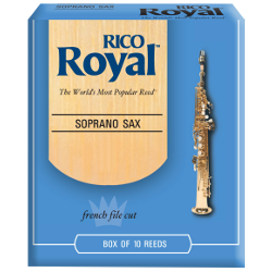 Rico Royal Soprano Saxophone Reed, Strength 2, Box of 10