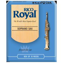 Rico Royal Soprano Saxophone Reed, Strength 3.5, Box of 10